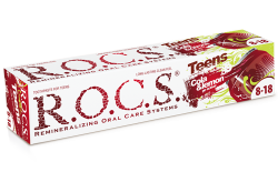 R.O.C.S Teens Go Active! toothpaste with cola and lemon flavor
